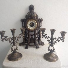Relojes de carga manual: RELOJ Y DOS CANDELABROS. Lote 56871078