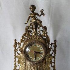 Relojes de carga manual: RELOJ QUARTZ DE SOBREMESA EN BRONCE. Lote 62410519