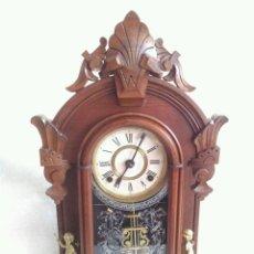 Relojes de carga manual: ANTIGUO E IMPRESIONANTE RELOJ CAPILLA ANSONIA PENDULO MERCURIO FABRICADO EN USA PATENTE 1882. Lote 57804087