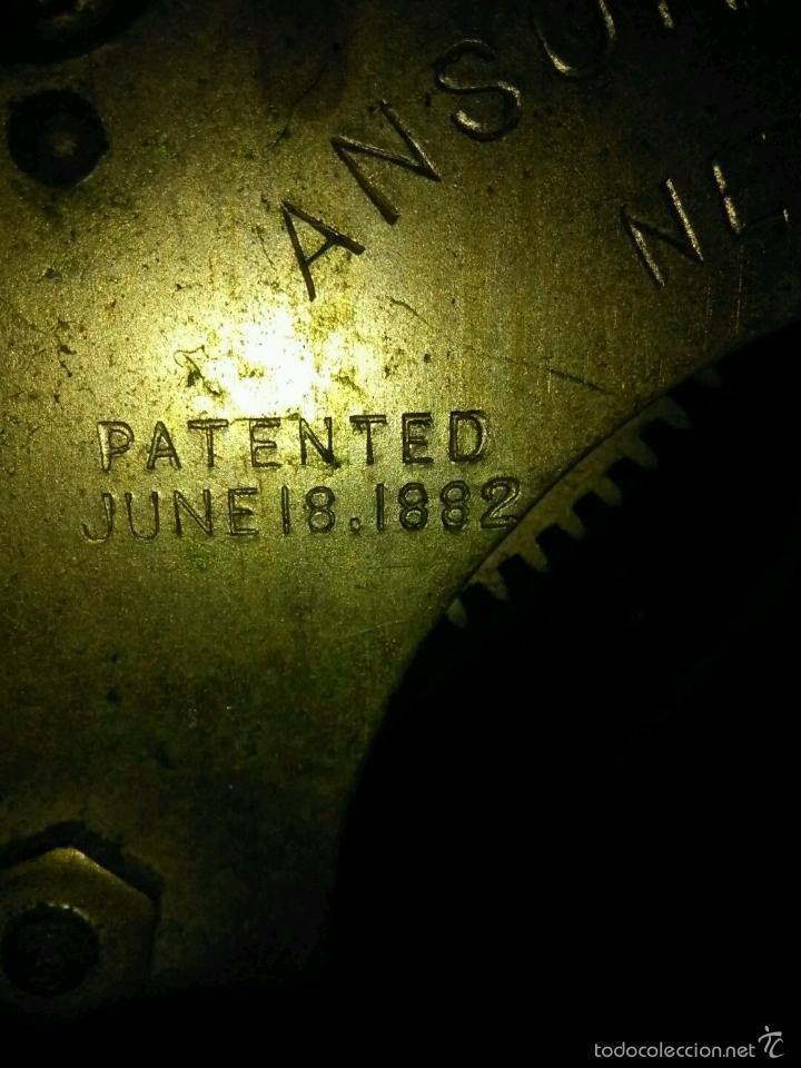 Relojes de carga manual: ANTIGUO IMPRESIONANTE RELOJ CAPILLA ANSONIA PENDULO AD.Y ATR. COMPENSADO POR TEMPERATURA MERCURIO - Foto 9 - 57804087