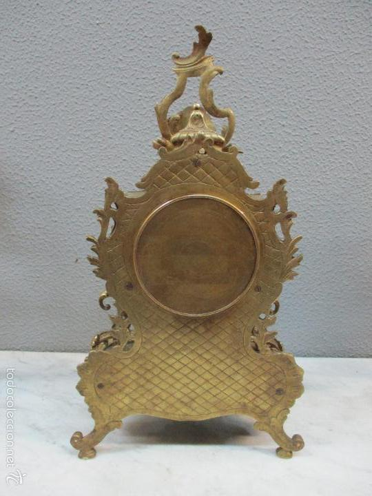 Relojes de carga manual: Antiguo Reloj - con Guarnición - Candelabros a Juego - Bronce - Completo - Finales S. XIX - Foto 14 - 58061208