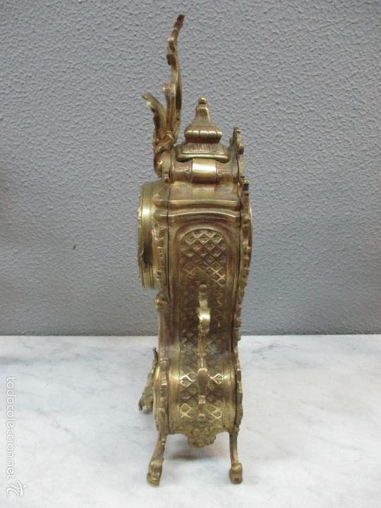 Relojes de carga manual: Antiguo Reloj - con Guarnición - Candelabros a Juego - Bronce - Completo - Finales S. XIX - Foto 19 - 58061208