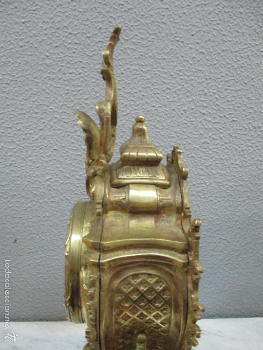Relojes de carga manual: Antiguo Reloj - con Guarnición - Candelabros a Juego - Bronce - Completo - Finales S. XIX - Foto 21 - 58061208