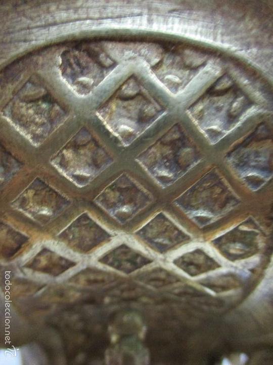 Relojes de carga manual: Antiguo Reloj - con Guarnición - Candelabros a Juego - Bronce - Completo - Finales S. XIX - Foto 22 - 58061208