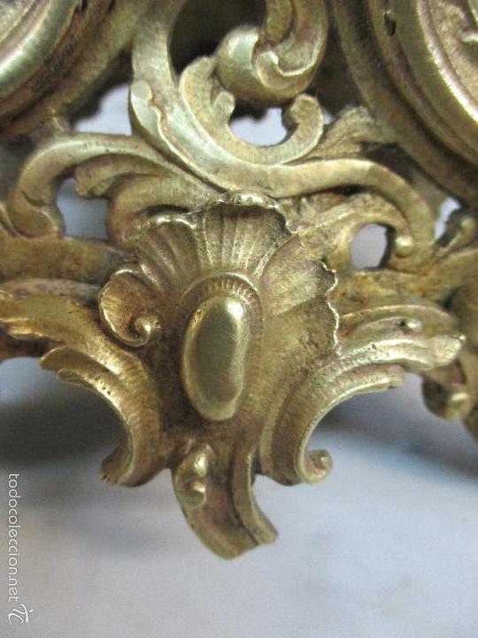 Relojes de carga manual: Antiguo Reloj - con Guarnición - Candelabros a Juego - Bronce - Completo - Finales S. XIX - Foto 27 - 58061208
