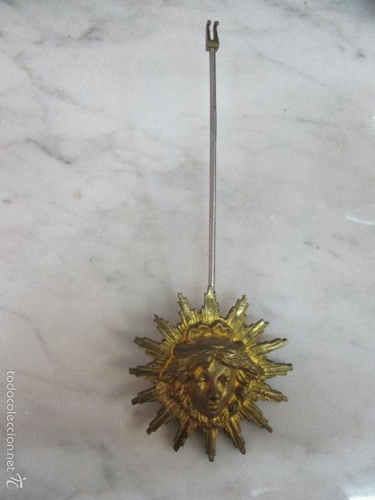 Relojes de carga manual: Antiguo Reloj - con Guarnición - Candelabros a Juego - Bronce - Completo - Finales S. XIX - Foto 46 - 58061208