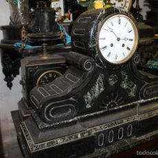 Relojes de carga manual: RELOJ DE SOBREMESA O CHIMENEA EN MARMOL CON SONERIA MAQUINARIA DE PARIS (FUNCIONANDO). Lote 58080149