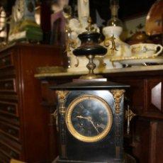 Relojes de carga manual: RELOJ SOBREMESA CARGA MANUAL DE MARMOL Y BRONCE CON SONERIA (FUNCIONANDO). Lote 58080247