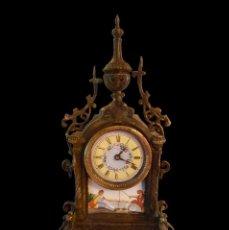Relojes de carga manual: RELOJ DE BRONCE MODERNISTA, PRECIOSAS ESCENAS EN ESMALTES MUY COQUETO.. Lote 58336311