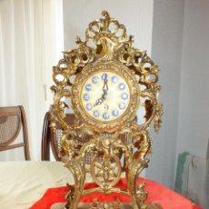 Relojes de carga manual: PRECIOSO RELOJ DE BRONCE CARGA MANUAL CON GUARNICION- FUNCIONA BIEN. Lote 58496278