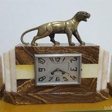 Relojes de carga manual: RELOJ ART DECÓ EN MARMOL Y BRONCE.. Lote 58616444