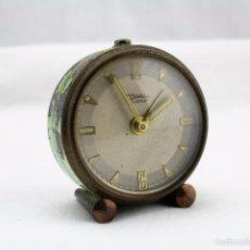 Relojes de carga manual: ANTIGUO RELOJ DE SOBREMESA DIEHL DILETTA DE FABRICACIÓN ALEMANA - PIEZAS O RESTAURACIÓN . Lote 58681833