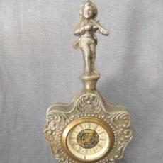 Relojes de carga manual: RELOJ CALAMINA ANTIGUO CON FIGURA DE VIOLINISTA FUNCIONANDO. Lote 58767500