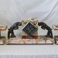 Relojes de carga manual: RELOJ DE SOBREMESA ART DECO CON GUARNICIÓN. Lote 62315100