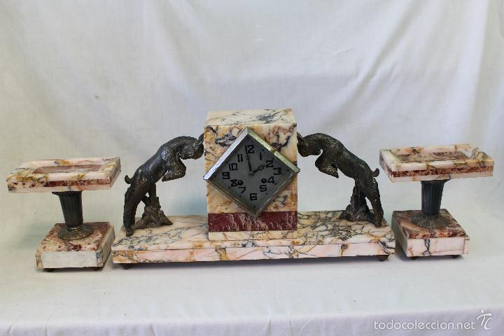 Relojes de carga manual: reloj de sobremesa art deco con guarnición - Foto 2 - 62315100