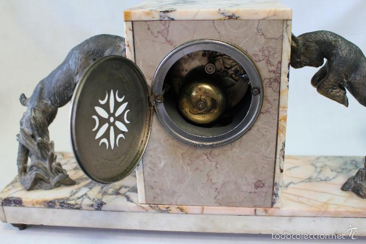 Relojes de carga manual: reloj de sobremesa art deco con guarnición - Foto 4 - 62315100