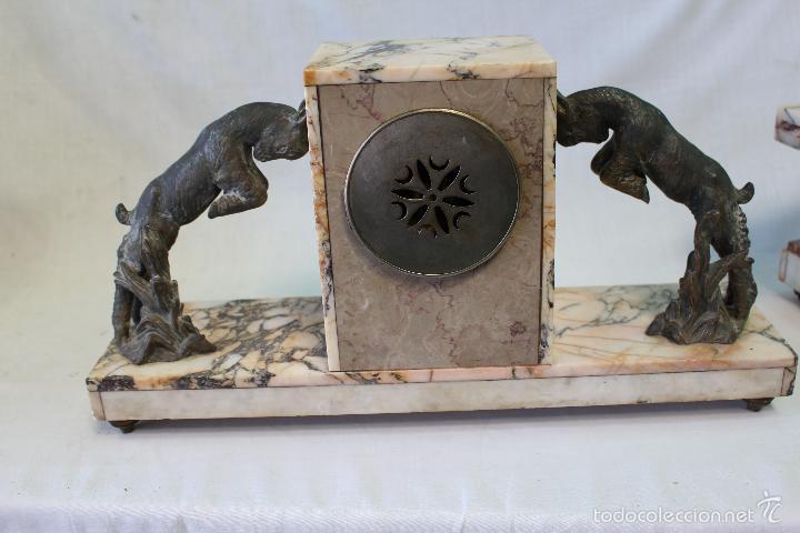 Relojes de carga manual: reloj de sobremesa art deco con guarnición - Foto 5 - 62315100