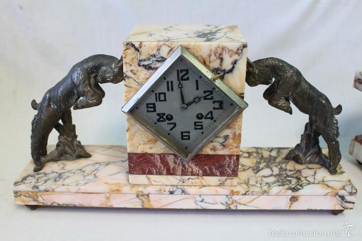 Relojes de carga manual: reloj de sobremesa art deco con guarnición - Foto 6 - 62315100