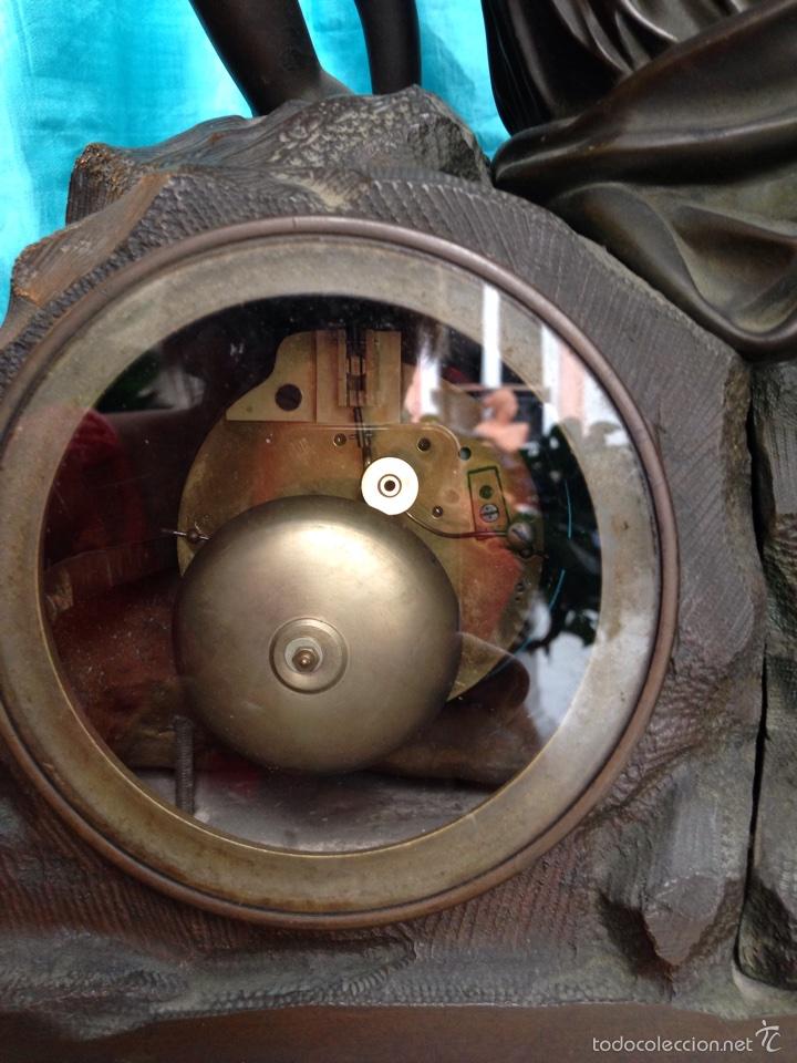 Relojes de carga manual: Reloj de bronce sigo XIX, sobremesa de la época imperio - Foto 10 - 60576814