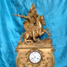 Relojes de carga manual: RELOJ DORADO AL MERCURIO DE SOBREMESA SIGLO XIX. Lote 60577687
