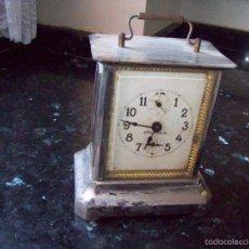 Relojes de carga manual: ANTIGUO RELOJ DE SOBREMESA FUNCIONANDO MARCA STOCKHOLM. Lote 153962116