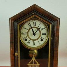 Relojes de carga manual: RELOJ DE SOBREMESA EN MADERA. MARCA ELISHA WELCH. EEUU. SIGLO XIX. . Lote 61077659