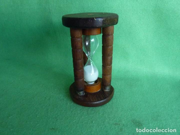 Bonito Reloj De Arena Antiguo Cristal Soplado Y Comprar Relojes