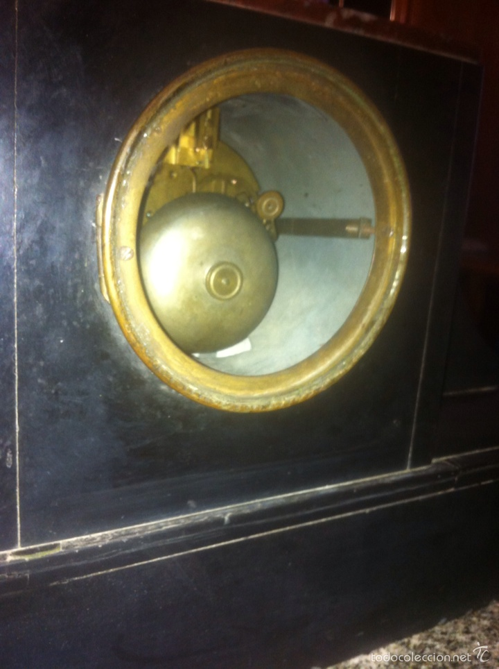 Relojes de carga manual: Antiguo reloj con escultura de calamina de Geo Maxim - Foto 4 - 61933580