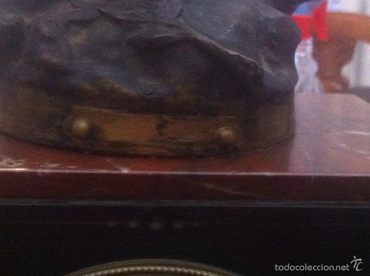 Relojes de carga manual: Antiguo reloj con escultura de calamina de Geo Maxim - Foto 14 - 61933580
