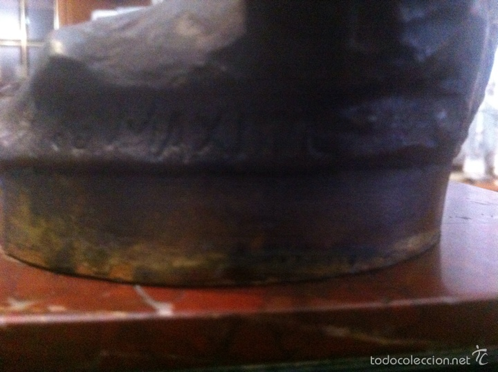 Relojes de carga manual: Antiguo reloj con escultura de calamina de Geo Maxim - Foto 15 - 61933580