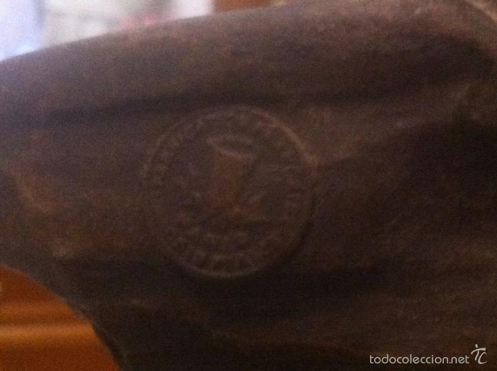 Relojes de carga manual: Antiguo reloj con escultura de calamina de Geo Maxim - Foto 16 - 61933580