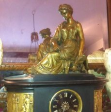 Relojes de carga manual: RELOJ EN ONIX NEGRO NAPOLEÓN III DE EPOCA 1860. Lote 62468504