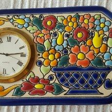 Relojes de carga manual: RELOJ CERAMICO CERCOLON PINTADO A MANO. Lote 63987121