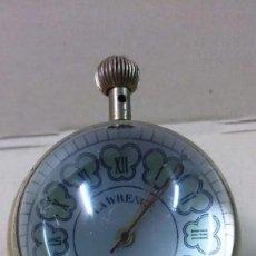 Relojes de carga manual: RELOJ DE SOBREMESA, CARGA MANUAL, LAWRENCE, 17 JEWELS, EN BOLA DE CRISTAL. FUNCIONANDO.. Lote 64984963