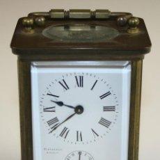 Relojes de carga manual: RELOJ DE CARRUAJE. DISCAZAUX BIARRITZ. BRONCE Y CRISTAL. SIGLO XIX. Lote 66067274
