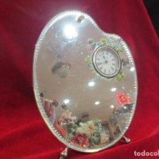Relojes de carga manual: RELOJ ESPEJO EN FORMA DE PALETA DE PINTOR AÑOS 20. Lote 66853246