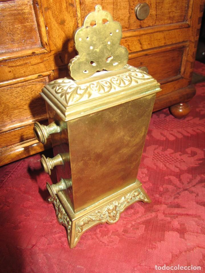 Relojes de carga manual: Antiguo Calendario Perpetuo de Sobremesa para Despacho - Foto 6 - 72042123