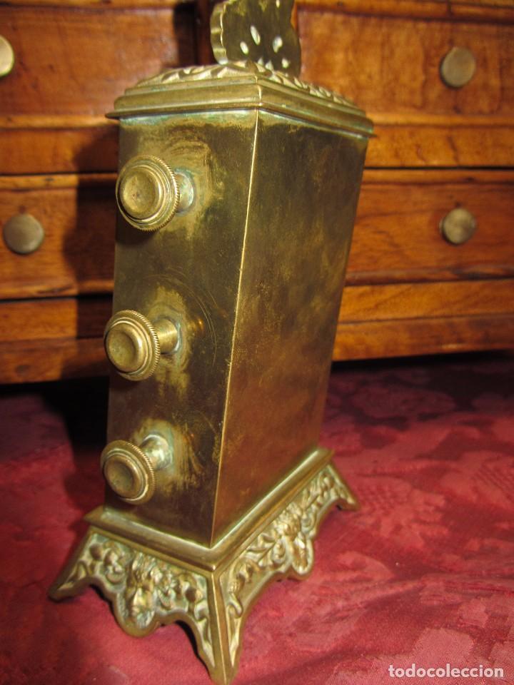 Relojes de carga manual: Antiguo Calendario Perpetuo de Sobremesa para Despacho - Foto 8 - 72042123