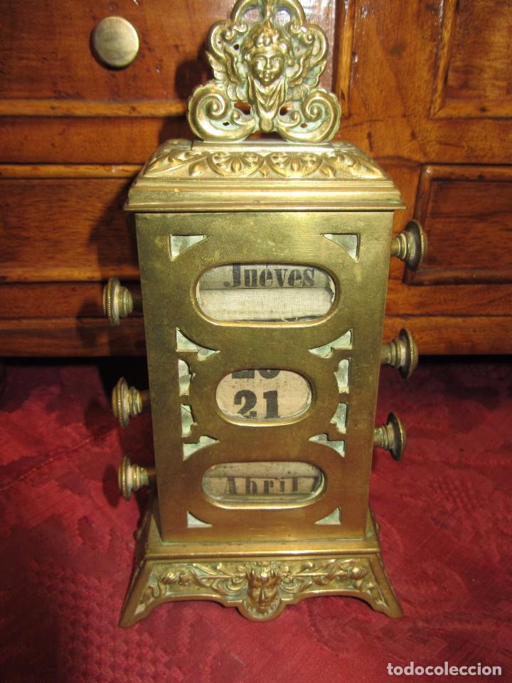 Relojes de carga manual: Antiguo Calendario Perpetuo de Sobremesa para Despacho - Foto 14 - 72042123