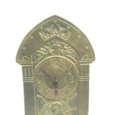 Relojes de carga manual: RELOJ SOBREMESA ART NOUVEAU CON SONERIA, BRONCE, FUNCIONA. MED. 14 X 5 X 25 M. Lote 72120223