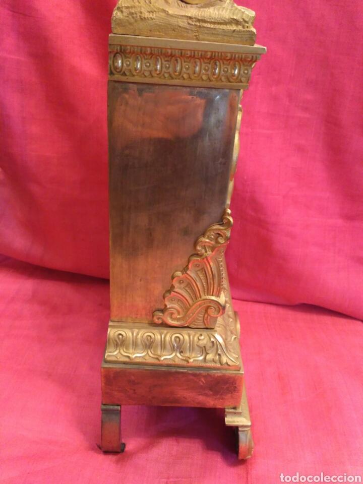 Relojes de carga manual: Reloj de sobremesa dorado del siglo XIX - Foto 6 - 72192047