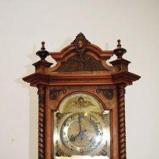 Relojes de carga manual: RELOJ TALLADO ANTIGUO DE SOBREMESA. Lote 76103175