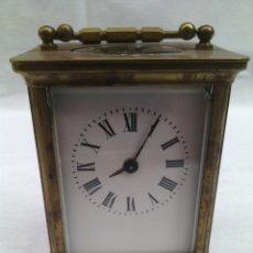 Relojes de carga manual: RELOJ DE CARRUAJE. LATON.FRANCES.FUNCIONANDO. Lote 76190355