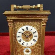 Relojes de carga manual: RELOJ DE CARRUAJE. CAJA EN BRONCE DORADO. L. LEROY AND CIE. PARIS. SIGLO XIX.. Lote 77726345