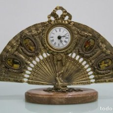 Relojes de carga manual: RELOJ BRONCE FORMA ABANICO.. Lote 78527721