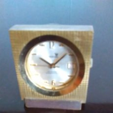 Relojes de carga manual: RELOJ CALENDARIO SOBREMESA CRONEL DE BRONCE ANTIMAGNETIC SHOCKPROTECTED. Lote 78533825