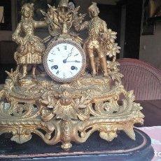 Relojes de carga manual: RELOJ DE SOBREMESA FRANCÉS EN BRONCE. ESPECTACULAR.. Lote 78576093