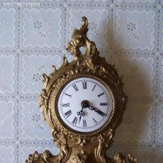 Relojes de carga manual: RELOJ SOBREMESA METAL , BASE DE MARMOL, NO PROBADO, MIDE 34 CMS DE ALTURA.. Lote 78629449