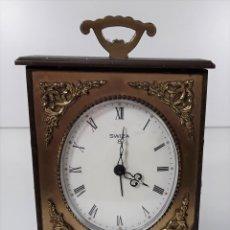 Relojes de carga manual: RELOJ DE SOBREMESA SWIZA 8 DIAS. BRONCE Y LATÓN. CUERDA. SUIZO. MEDIADOS SIGLO XX.. Lote 78786261