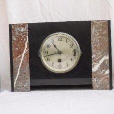 Relojes de carga manual: RELOJ DECÓ DE PIZARRA CON SUS GUARNICIONES. Lote 80691198